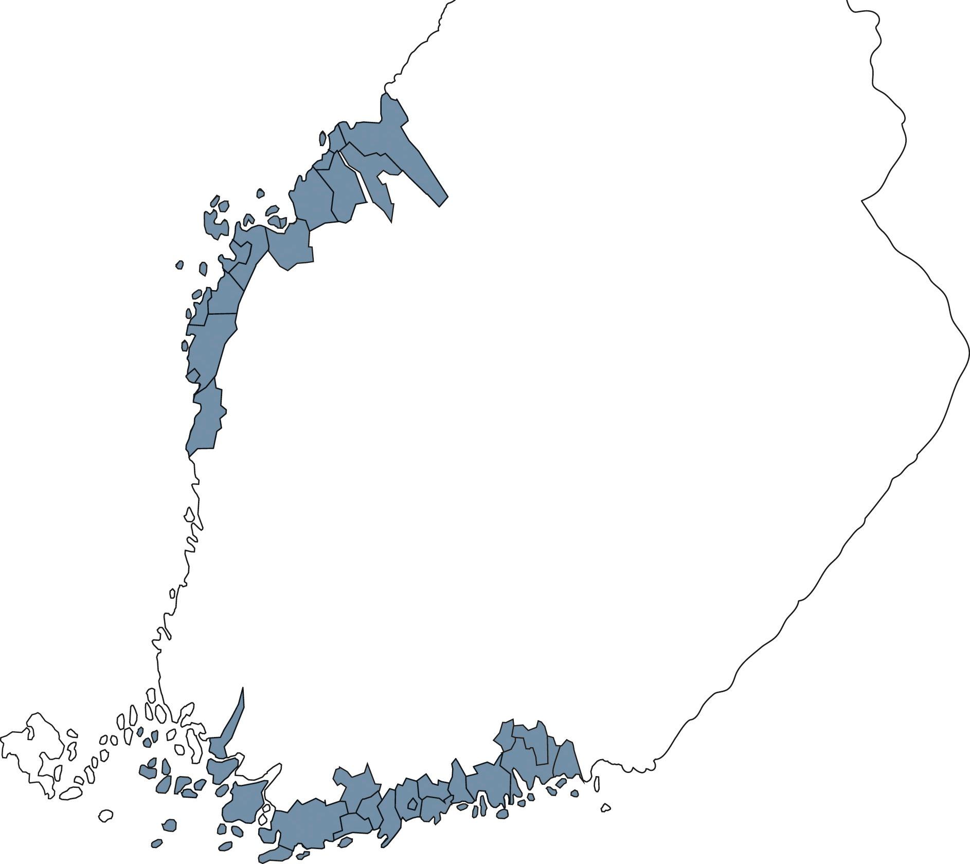 Karta över samkommunens verksamhetsområde