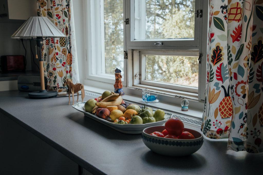 Arbetsbord med frukt