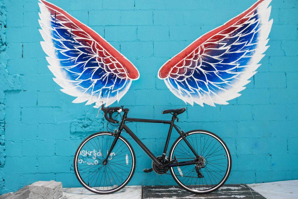 cykel med vingar