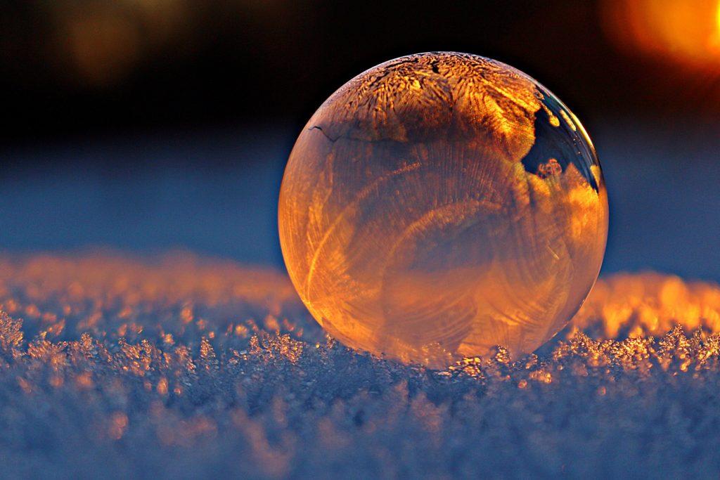 frusen såpbubbla