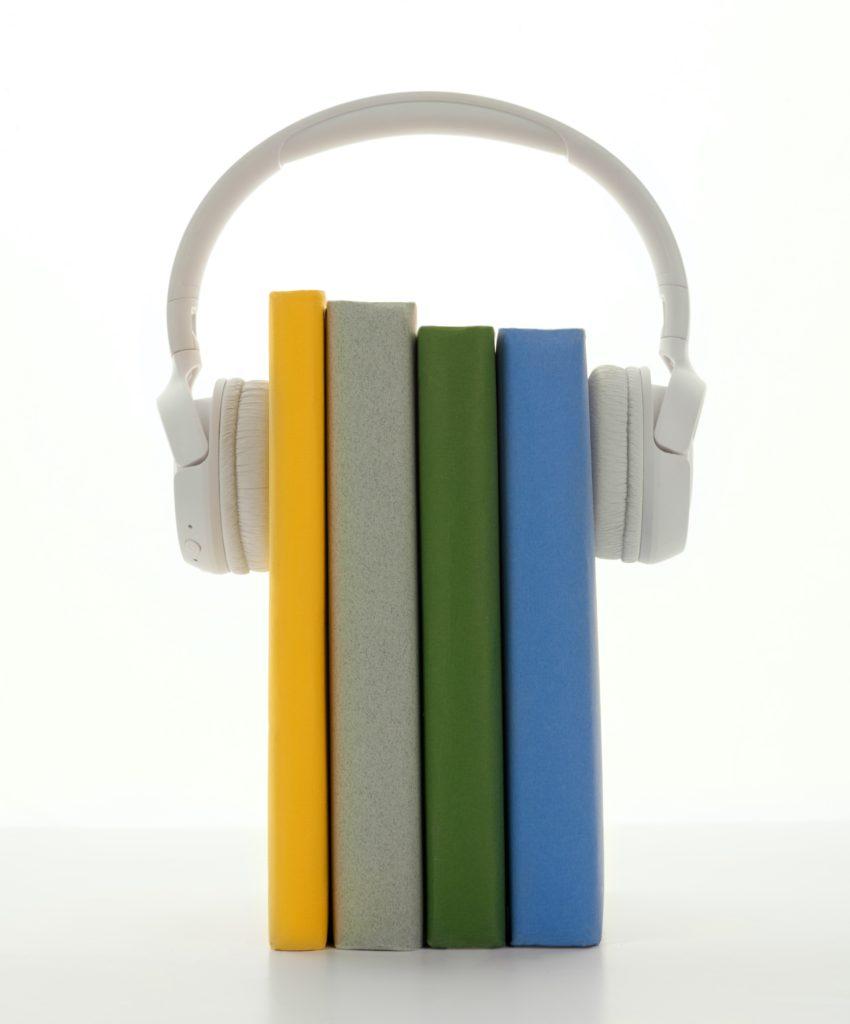 hörlurar som bokstöd